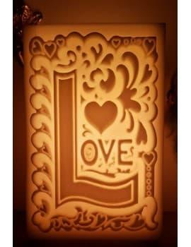 AŞK (LOVE) DESENLİ İÇİ BOŞ MUM